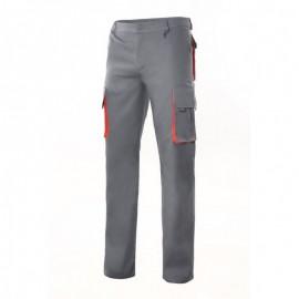 Pantalón Bicolor Multibolsillos Velilla gris naranaja