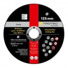 Juego de disco de corte de metal INOX AD 125 MI (12 piezas)
