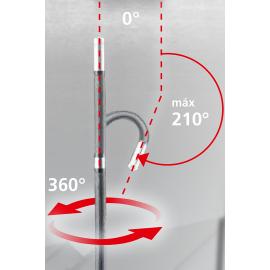 210º de agilidad máxima y 360º de rotación