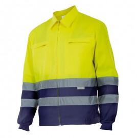Cazadora Bicolor Alta Visibilidad Azul y Amarillo