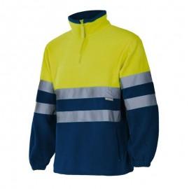 Forro Polar Bicolor Alta Visibilidad Azul y Amarillo
